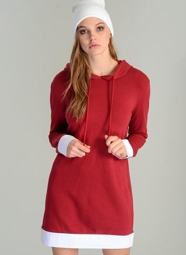 Kapüşonlu Poplin Detaylı Elbise-Agenda